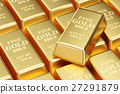 golden bars background, 3D rendering 27291879