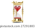 Heart in hourglass, 3D rendering 27291883