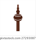 Tribal wooden flute pipe vector. 27293087