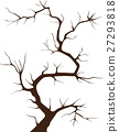 Tree silhouette without leaves on white background 27293818