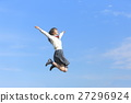 นักเรียนมัธยมปลาย,กระโดด,คน 27296924