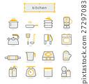 Thin line icons set, kitchen 27297083