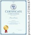 certificate, template, vector 27298187