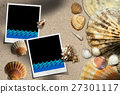 Beach Vacation - Seashells and Instant Photos 27301117