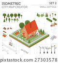 Flat 3d isometric house and city map constructor  27303578