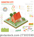 Flat 3d isometric house and city map constructor  27303590