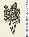 Muscari flowers card 27304663