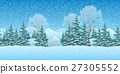 Seamless Christmas Landscape 27305552