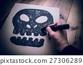 手寫 手繪 骨架 27306289