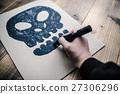 手繪 拍照 骨架 27306296