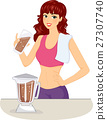 Girl Chocolate Protein Shake 27307740