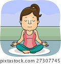 Girl Yoga Lotus Position 27307745