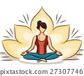 Girl Yoga Lotus Position 27307746