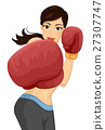Girl Boxing Punch 27307747