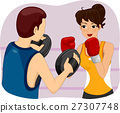 Girl Boxing Practice 27307748