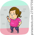 Girl Fat Exercise Running Tired 27307750