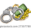 Money Handcuffs Crime Conflict 27307780