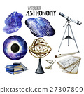 Watercolor astronomy collection 27307809