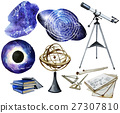 Watercolor astronomy collection 27307810
