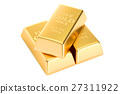 Gold bars, 3D rendering 27311922