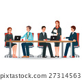Business people meeting at a big conference desk. 27314563