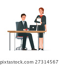 Businessman and woman works together. 27314567