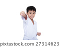Asian child athlete martial art taekwondo training 27314623