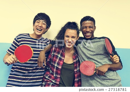 Table Tennis Ping-Pong Friends Sport Concept 27318781