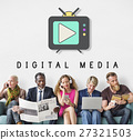 TV Play Button Media Entertainment Graphic Concept 27321503