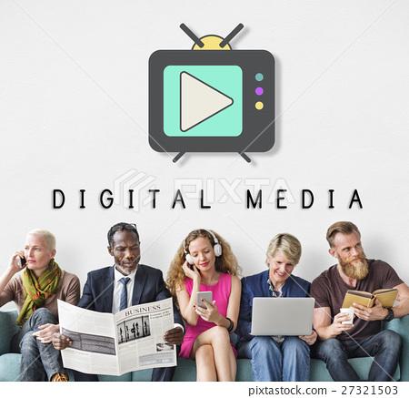 TV Play Button Media Entertainment Graphic Concept 27321503
