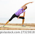 Girl training yoga poses 27323618