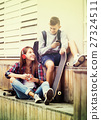 two, teenagers, outdoors 27324511