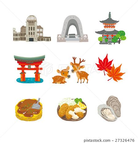 Hiroshima illustration 27326476