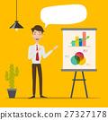 Businessman making a presentation. 27327178