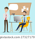 Business people talking at working office space. 27327179