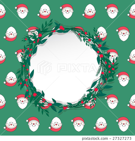 Merry Christmas and Happy New Year postcard. - Stock Illustration ...