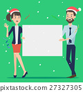 Group of businessman holding board for christmas 27327305