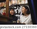 Naka-zushi stall Women enjoying sake 27330360