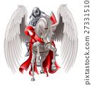Knight on Pegasus Horse 27331510