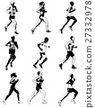 marathon runners illustration 27332978