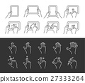 Tablet gesture icons 27333264