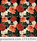 Wildflower rose flower pattern in a watercolor 27333541