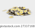 Golden coins pile 27337168