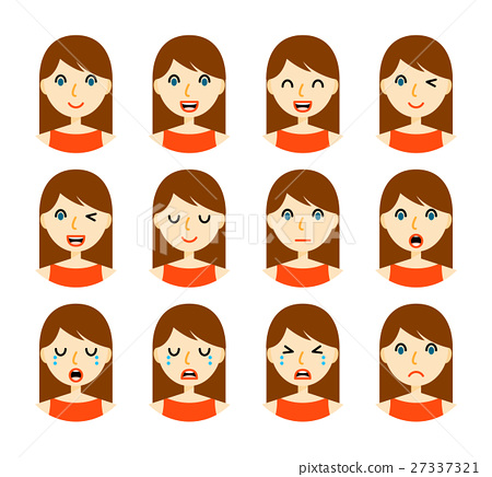 Woman facial expressions 27337321
