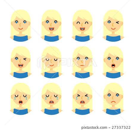 Woman facial expressions 27337322