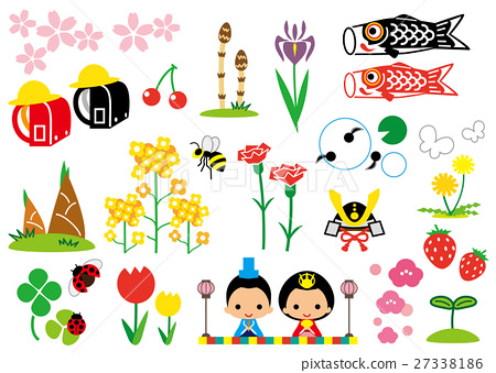 spring, vector, vectors 27338186