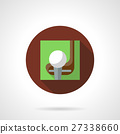 Golf game brown round vector icon 27338660