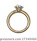 ring, vector, diamond 27340484