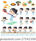 school girl Sailor suit cooking 27342309