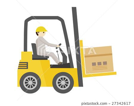 叉車 工作 藍領工人 27342617